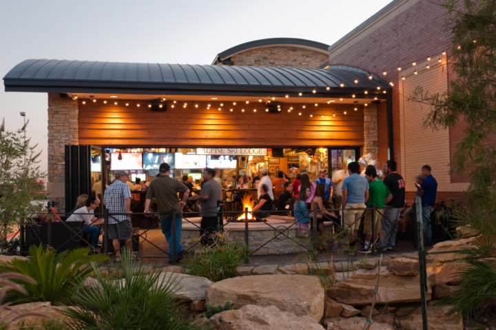 The 54<sup>th</sup> Street Restaurant & Drafthouse concept (San Antonio location pictured) draws in consumers with its casual atmosphere and extensive draft beer list.
