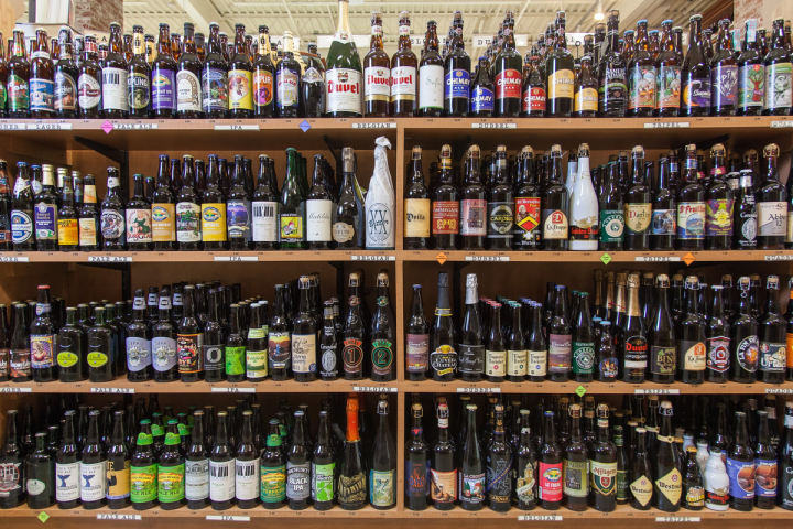 Although its focus is on wine, Bottles maintains a wide range of spirits and beer SKUs, with offerings in each category approaching 1,200 SKUs. Beer is arranged by style rather than by brand.