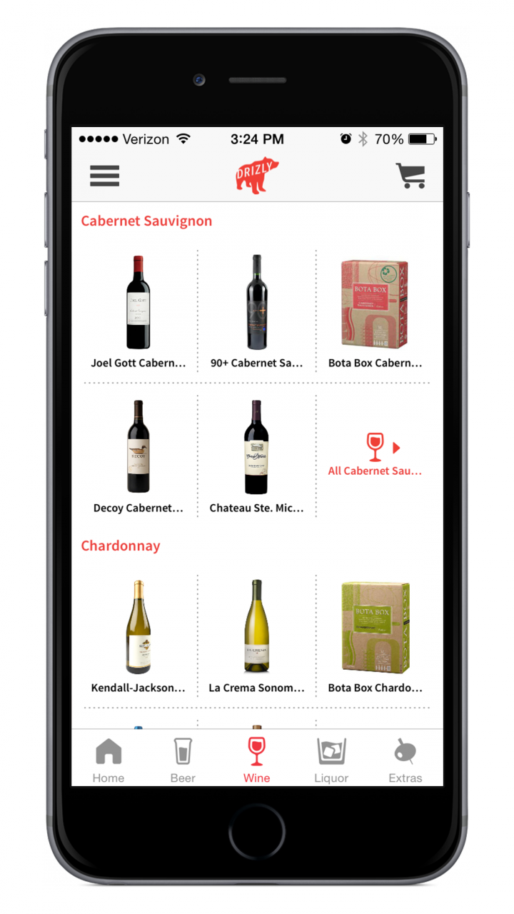 The Drizly application offers wine, spirits and beer delivery to a largely millennial user base with growing interest in wine.