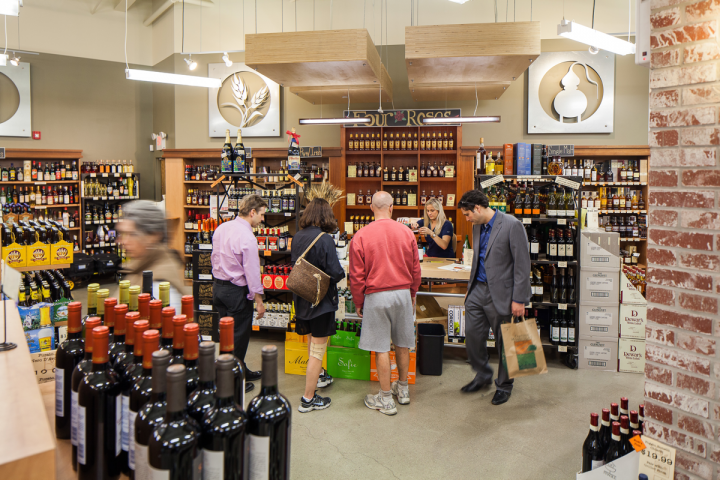 Bottles Fine Wine in Providence, Rhode Island, gives its customers a reason to visit weekly, with tastings occurring every Thursday, Friday and Saturday (tasting bar pictured).