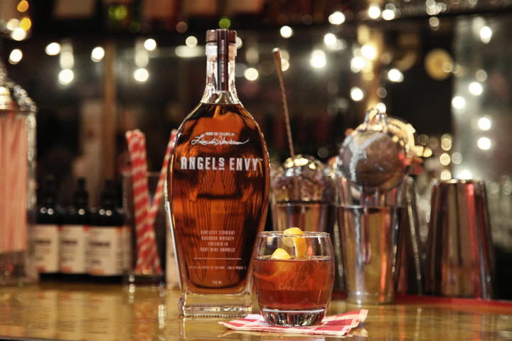 Signature cocktails have expanded on the range of classic American whiskey drinks. Created for Angel's Envy, the Ciudad Vieja features the brand's Bourbon, Pierre Ferrand 1840 Cognac, Cocchi Storico Vermouth di Torino, Bénédictine herbal liqueur, Berg & Hauck's Creole bitters and Angostura bitters.