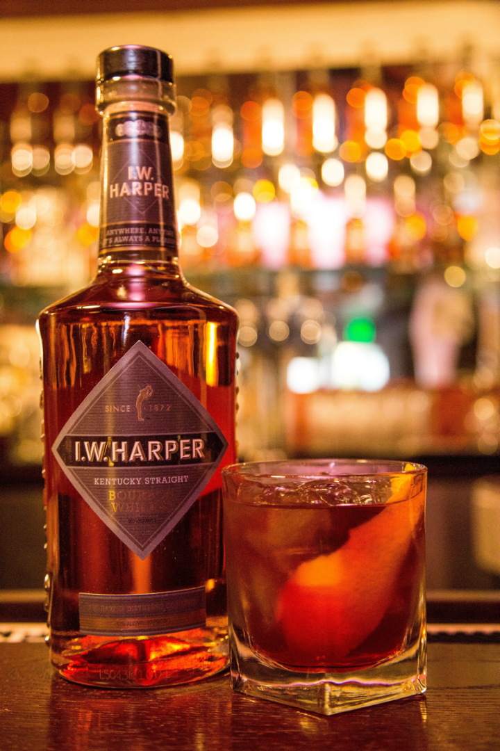 The Old Fashioned, another classic, has once again become a gold standard cocktail around the country. The I.W. Harper's Old Fashioned is made using the Bourbon, cherries, brown sugar and Angostura Aromatic and Orange bitters.