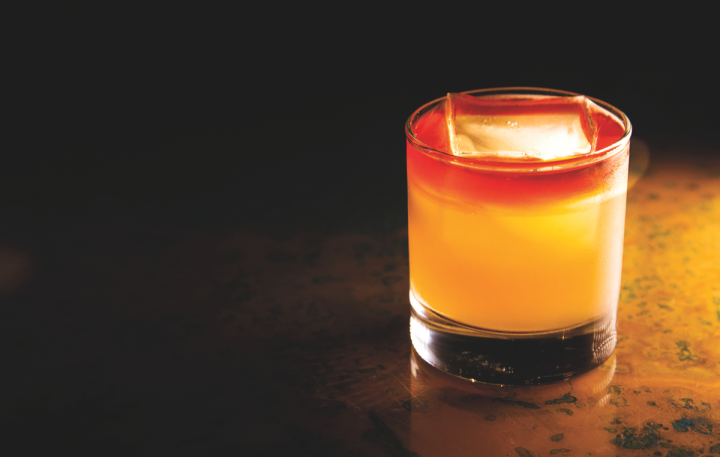 Cocktail quality continues to rise as bartenders around the country embrace American whiskey. The Butchertown Sour at Louis's the Ton in Louisville, Kentucky, is a blend of Redemption rye, Peychaud's bitters, and fresh lemon and blood orange juices.