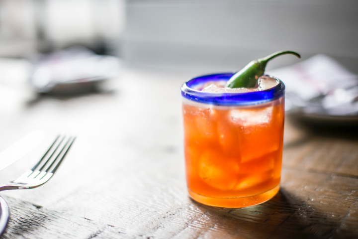 Dia de Campo's Rubi cocktail is made with blanco Tequila, grapefruit and lemon juices, and house spices.