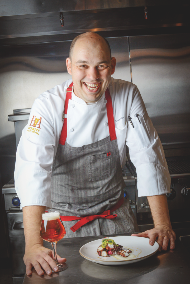 The brewing industry actively promotes beer's role in modern cuisine. Brewers Association executive chef Adam Dulye (above) offers guidance on matching flavors.