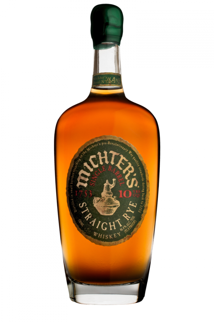 Michter's single barrel 10-year-old straight rye