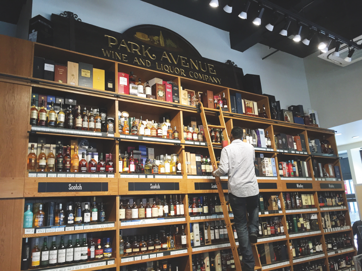Park Avenue Liquor (whisky wall pictured) in New York City often purchases the entire run of a single cask whisky. Such exclusive IBs lure in Scotch whisky connoisseurs.