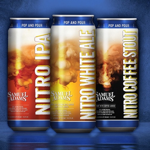 Samuel Adams introduced its Nitro Project, consisting of Nitro IPA, Nitro white ale and Nitro coffee stout, earlier this year.