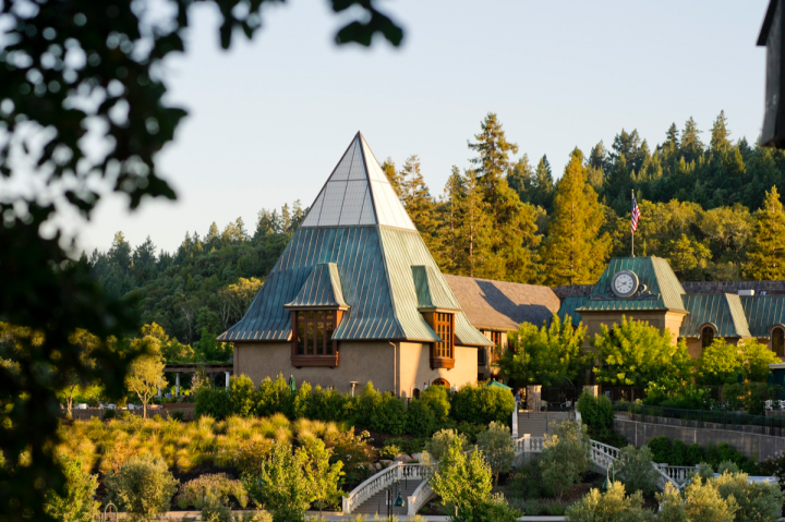 Francis Ford Coppola Winery (pictured) champions sustainable production by paying bonuses to organic, fish-friendly growers.