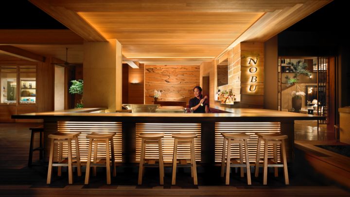 Four Seasons Hotels and Resorts has redefined hotel drinking and dining with venues like Nobu at the company's Lanai property in Hawaii.