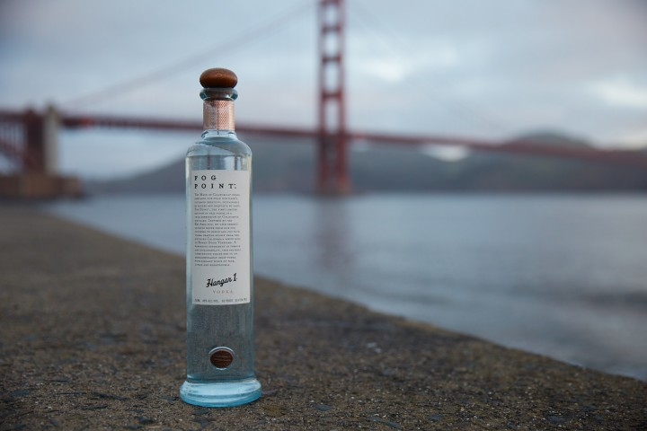 Hangar 1 collected condensed fog from California's Bay Area to create Fog Point vodka.