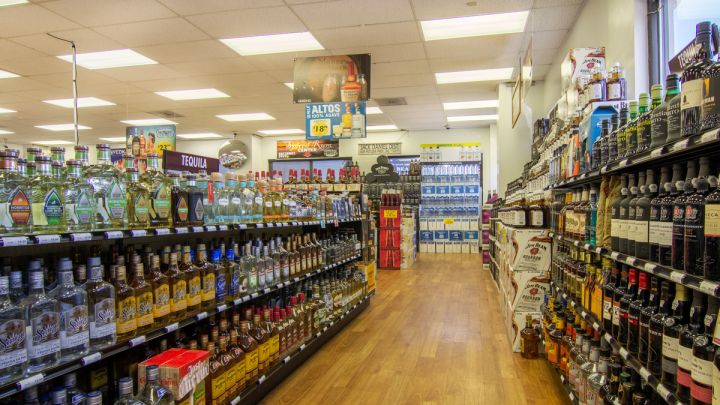 At Green's Discount Beverage Stores (downtown Columbia, South Carolina, location pictured), Tequila sales are shifting toward higher-priced offerings, with 750-ml. bottle sizes gaining in share. Silver and añejo Tequilas attract the most interest, with reposados sometimes lagging.