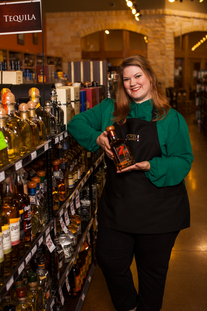 At Twin Liquors (Kyle, Texas, store manager Holly Starkey-Bethel pictured), 100-percent agave Tequila dominates the category at both the luxury and super-premium level.