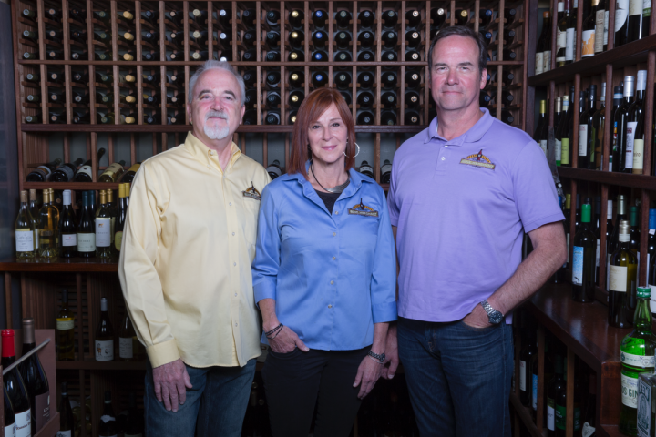(from left) Peter Granoff, Debbie Zachareas and Bo Thompson opened Ferry Plaza Wine Merchant & Wine Bar in 2003.