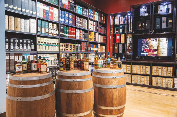 Vine & Table in Carmel, Indiana, offers a wide range of world whisky brands.