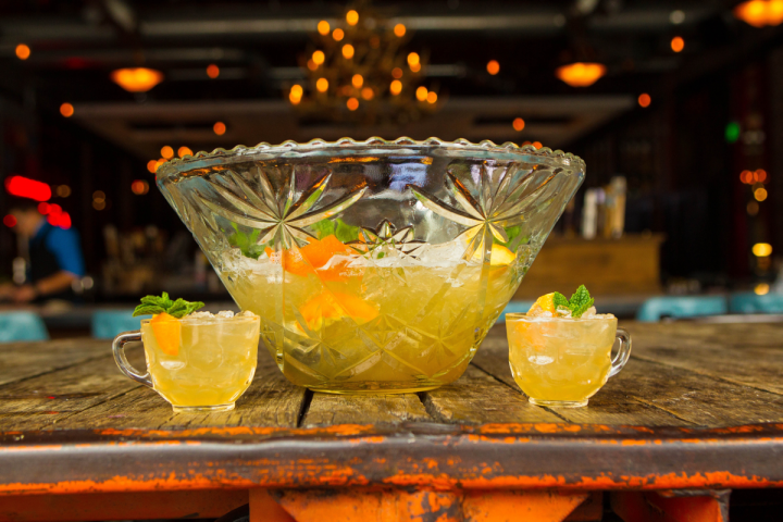 Punch Bowl Social offers games, food and custom drinks, including a host of punches.