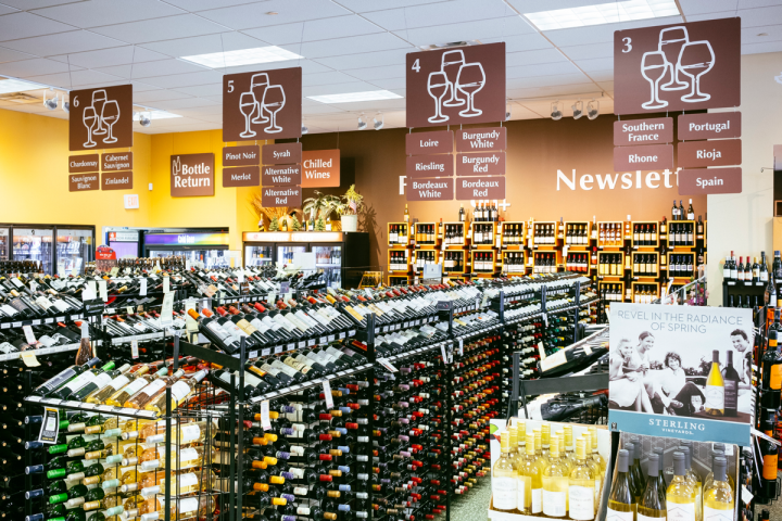Wine is the dominant category at Blanchards, representing 40 percent of sales. Each store has around 3,000 wine SKUs.