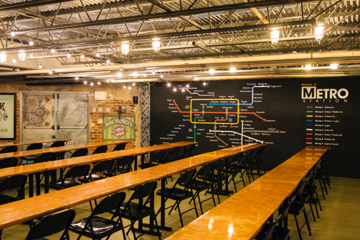 """The store's """"Metro Station"""" event space offers ample room for classes, pairing dinners, seminars and demonstrations."""