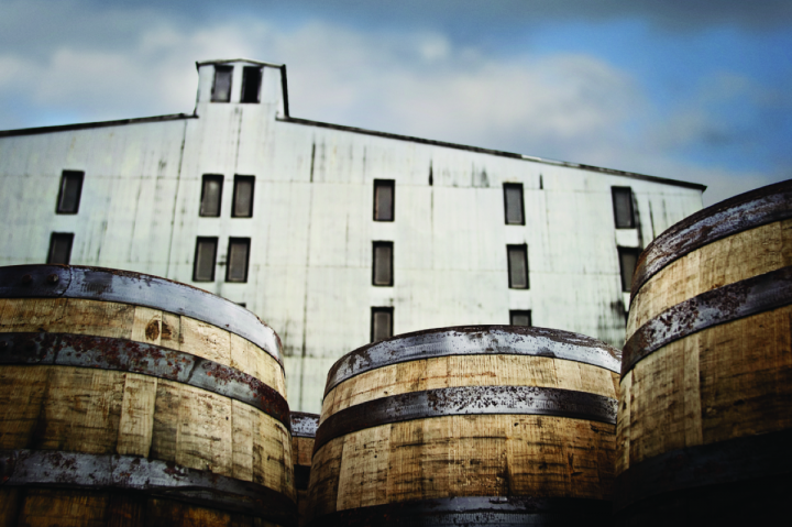 Production of Bourbon and Tennessee whiskey is at a nearly 50-year high (Jack Daniel's barrelhouse pictured).
