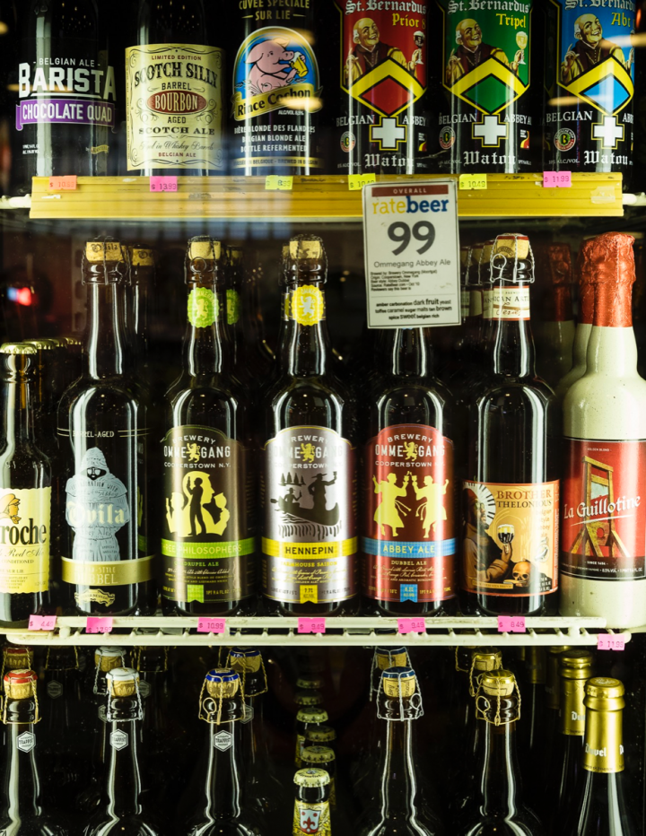 Local and craft labels dominate Jubilation's 3,000-SKU beer selection.