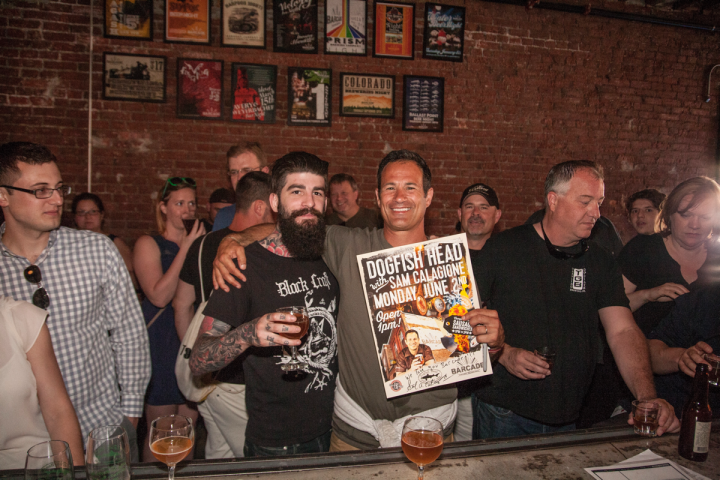 Barcade uses social media to promote special beer events—such as an evening with Dogfish Head founder Sam Calagione (pictured)—that build customer loyalty.
