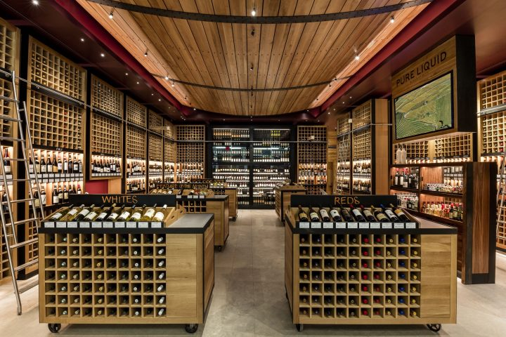 Pure Liquid Wine & Spirits is located in in Manhattan's Oculus transportation hub.