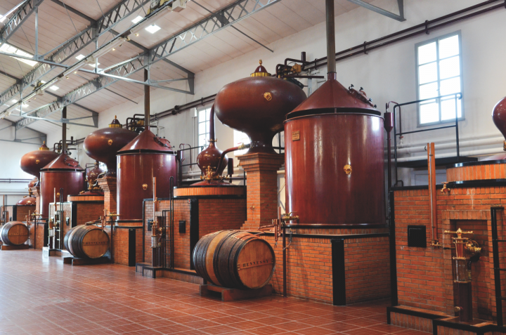 Hennessy (distillery above), long the market leader, has only grown further over the years. Today, the brand takes two-thirds of the thriving U.S. Cognac market.