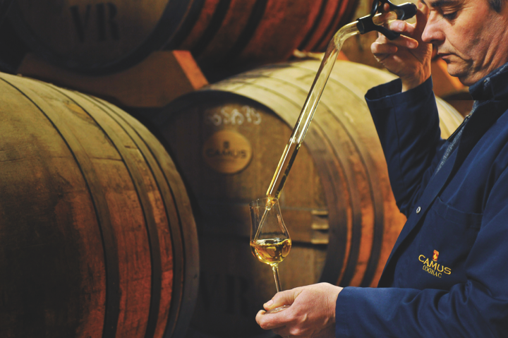 Camus (barrel tasting pictured) has a business unit devoted specifically to the U.S. market. The company aims to set itself apart through its Borderies range.