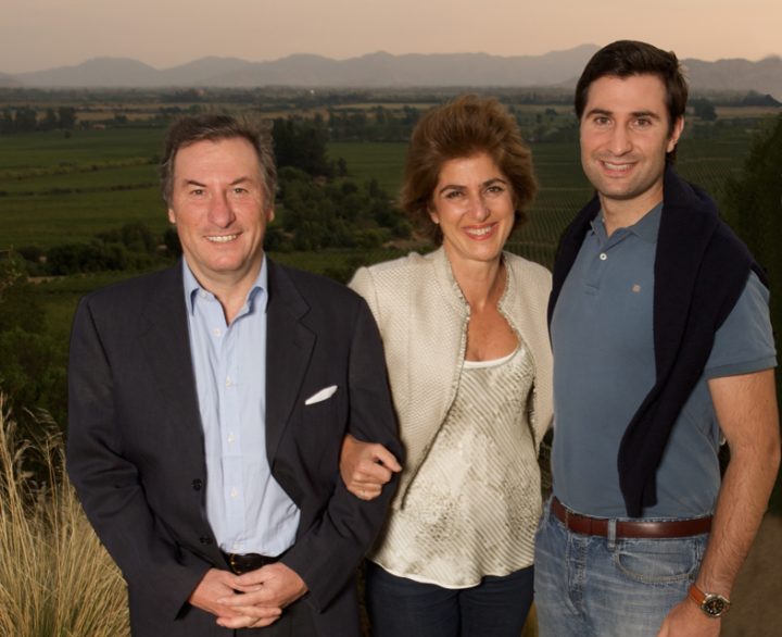 Chile's Casa Lapostolle is back in the hands of its founding family: (from left) Cyril de Bournet, Alexandra Marnier Lapostolle and Charles de Bournet Marnier Lapostolle.