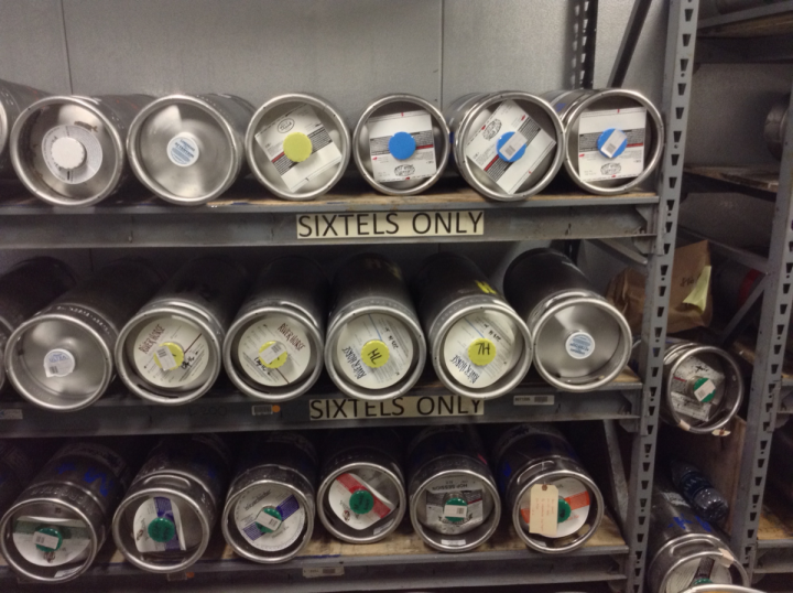 At Liquor Outlet Wine Cellars in Boonton, New Jersey, craft beer lovers have embraced sixtels—one-sixth barrel kegs—as a way to enjoy draft brews at home without committing to a full-size barrel.