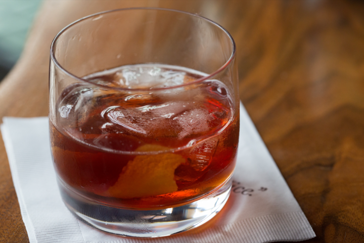 Winter cocktails take many forms, such as The Smoked Marrow Vieux Carré.