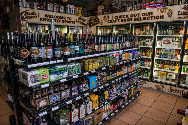 The beer category is highly competitive in Florida, leading Knightly to develop an expansive craft selection. The stores stock around 1,200 beer SKUs. The South Orange Blossom Trail location has the largest variety, which extends across nine cooler doors and a full aisle.