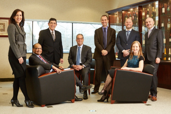 The Palm Bay International leadership team comprises (from left) Marcy Whitman, Harish Parekh, Mike Petteruti, Marc Taub, Michael O'Brien, Casey Tedd, Bethany Burke and Giacomo Turone.