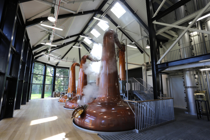 The Palm Bay portfolio ranges across many categories and regions, from its flagship Italian wine Cavit to spirits producers like Walsh Whiskey Distillery (pictured), which opened a new 650,000-case distillery in Ireland's County Carlow last June.