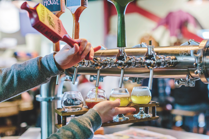 Allagash offers tour and a full tasting room (above) at its Portland Brewery. The company aims to deepen its presence in existing markets, and it has no plans to partner with private equity groups or merge with other breweries.