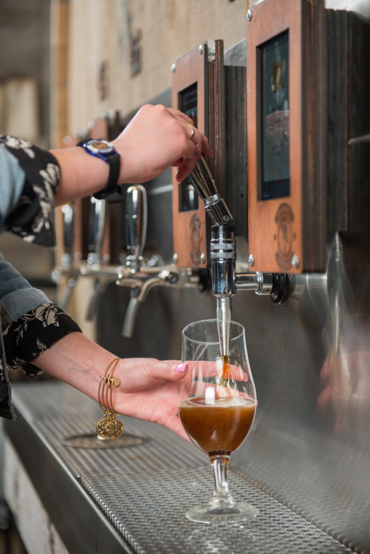 Self-serve draft rooms (Barrel Republic taps above) create community atmosphere for craft beer enthusiasts and maximize efficiency for on-premise operators.