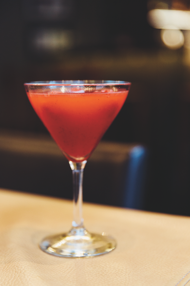 At Chicago-based steakhouse Primehouse, The James (pictured) blends vodka, elderflower liqueur, raspberry purée and lime juice.