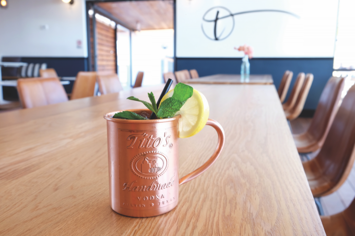 Vodka cocktails range from new drinks to fresh takes on classics. The ATX Mule (above) at Austin-based Tillery Kitchen and Bar adds hibiscus syrup to the traditional Moscow Mule.