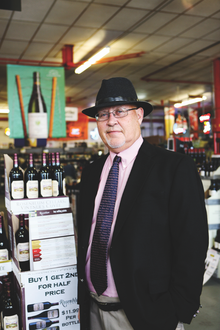 In Missouri, independent retailers like George Randall of Randall's Wine & Spirits (above) are fighting legislation that would ultimately reduce profitability by giving big-name players like Total Wine & More control of local markets.
