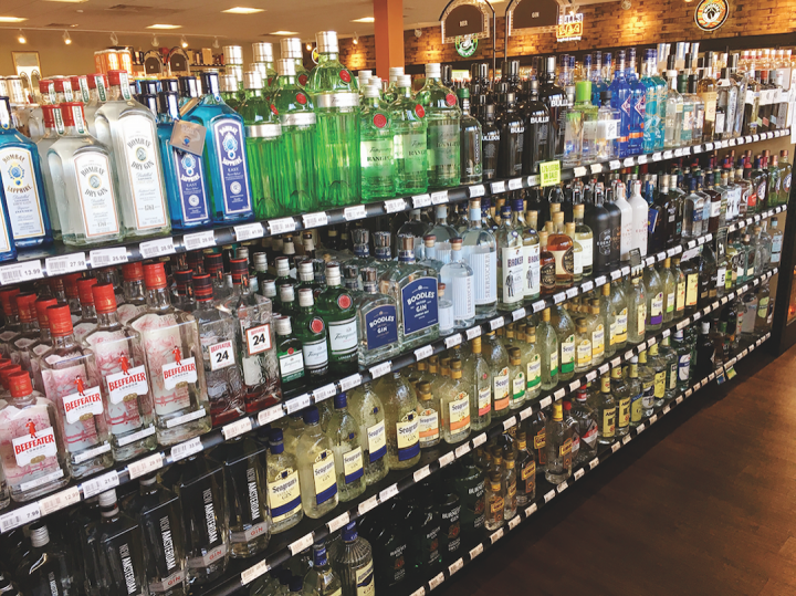 At Memphis, Tennessee–based Buster's Liquors & Wines (shelves pictured), Hendrick's is a best-selling gin.