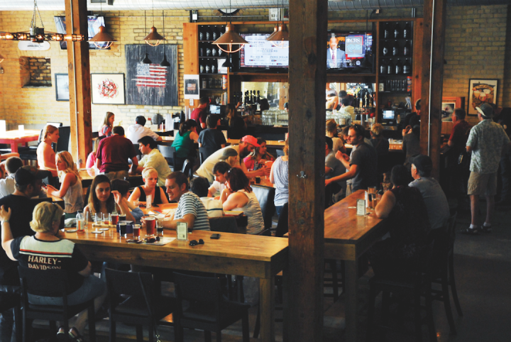 The Minneapolis-based 612Brew produces around 2,000 barrels of beer, which are offered in the on-site taproom (pictured) and throughout the Minnesota market.