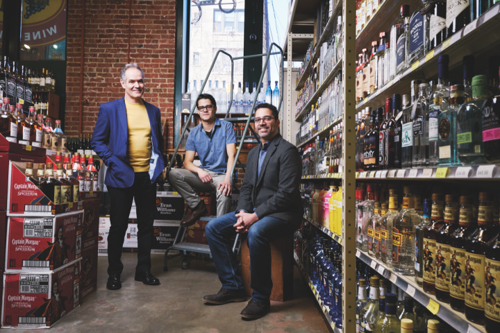 Armando Luis (left) has owned Sparrow since 1986. Alongside beer director Laz Luis (center) and wine director and general manager Javier Martinez (right), he's made the store an enduring local favorite.