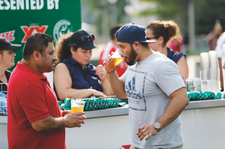 As craft beer's presence has risen at ballparks, so too has that of imports like Dos Equis (pictured) and Tecate.