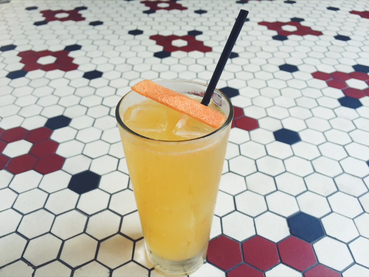 The GF Shandy at CBD Provisions showcases sour beer's flavor when paired with gin, St-Germain, grapefruit and lime juices, and grapefruit bitters.