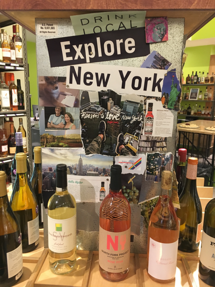 One of Bottlerocket's islands features local wines made by various New York wineries.