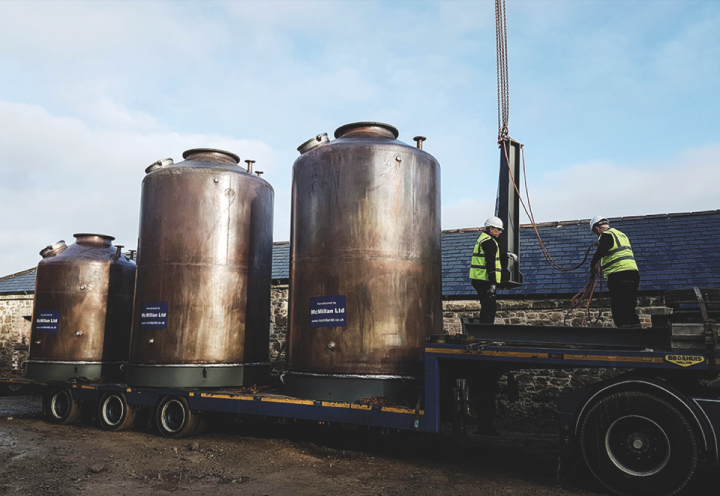Jameson's massive success and persistent growth have inspired a bevy of new Irish whiskey brands, such as Brown-Forman's recent entry, Slane (stills pictured).