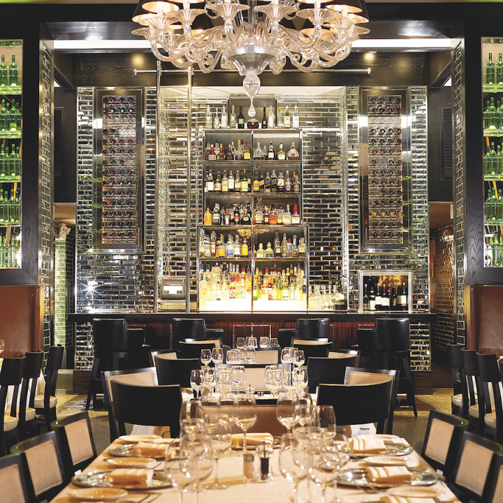 Quattro Gastronomia Italiana (interior pictured) blends Italian influences with Miami sophistication.