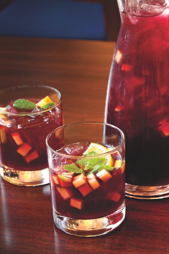 At the four-unit Spanish restaurant Jaleo (sangria pictured), sangria happy hours are creating big business. On-premise excitement has led to increased sales of bottled sangria.