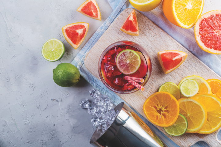 Sangria (pictured) mixes red, white, rosé or sparkling wine with fresh fruits or juices and sometimes spirits. Many restaurants often use leftover by-the-glass wines as opposed to a specific brand.