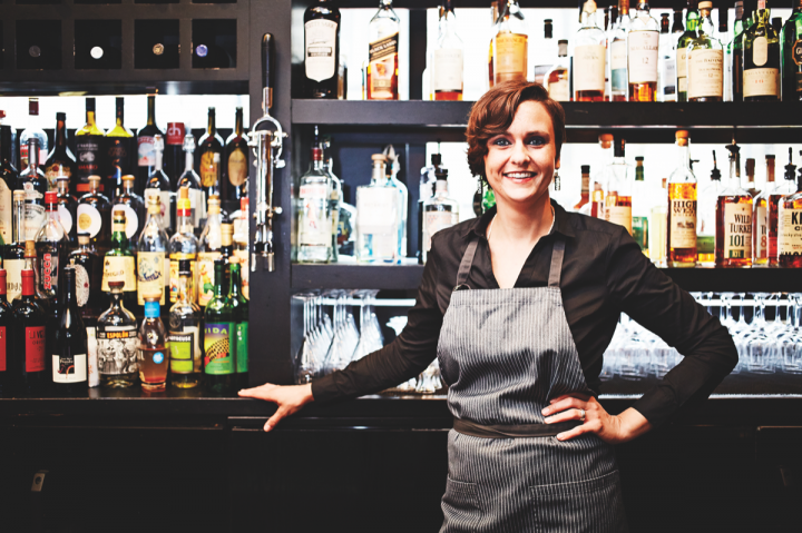 312 Chicago head bartender Jen Knott uses leftover wines from private dining and banquet events in the bar's sangria.